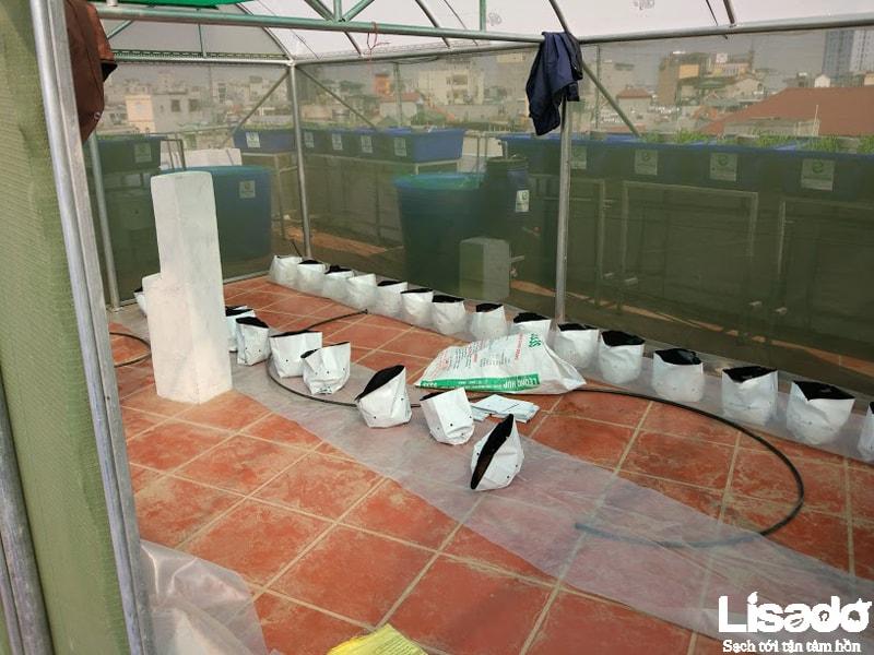 Công trình trồng cà chua bán thuỷ canh tại Lê Đức Thọ - Hà Nội