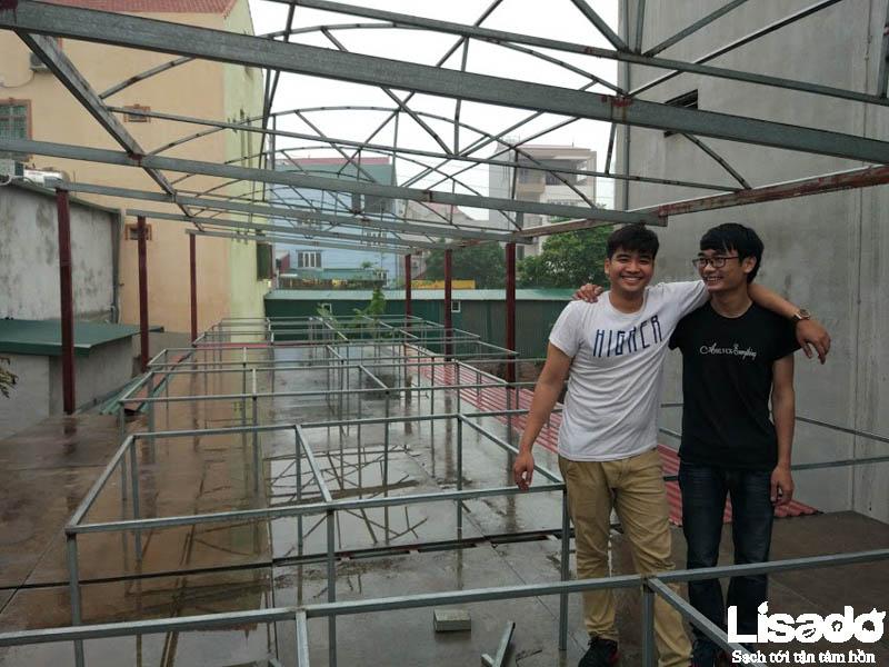 Quy mô công trình rau thủy canh tại Thị trấn Hương Canh – Vĩnh Phúc