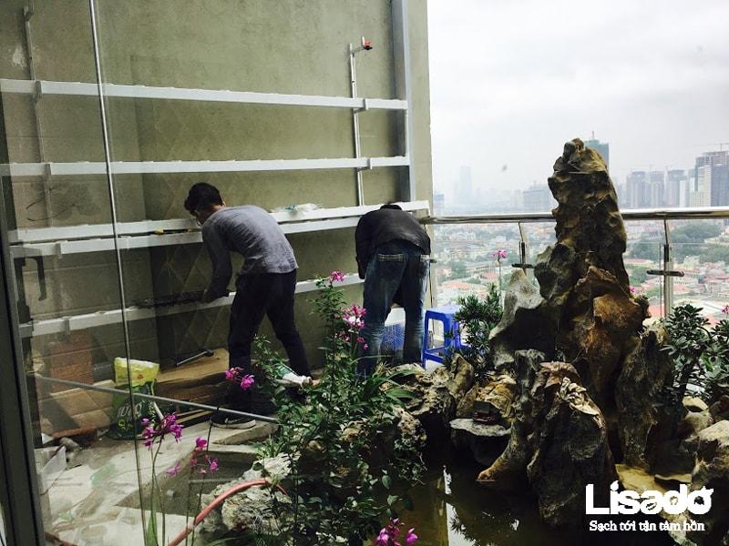 Công trình trồng rau thuỷ canh nhà cô Hải Vân ( Tô Hiệu - Hà Đông)