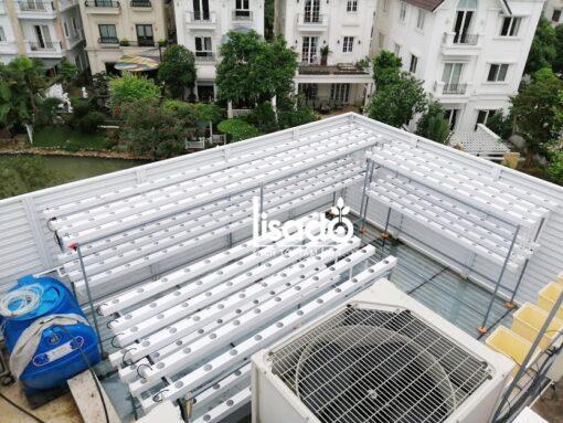 Giàn thủy canh sân thượng 14 ống 2 tầng GLS-04