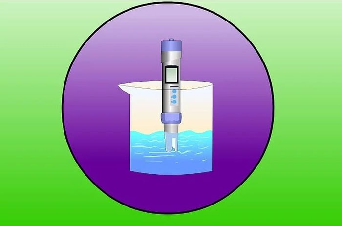 sử dụng máy đo tổng lượng chất rắn hòa tan và độ dẫn điện trong một lượng nước mẫu