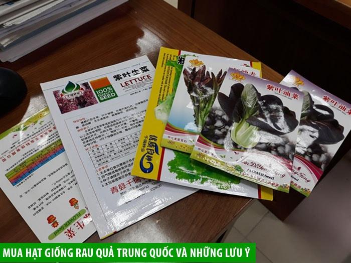Mua hạt giống rau quả Trung Quốc và những lưu ý