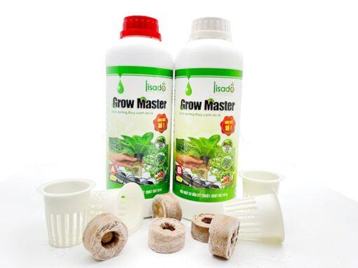 Dung dịch thuỷ canh Grow Master cặp 2 lít cho rau ăn lá