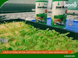 Cách sử dụng và pha chế dung dịch thuỷ canh Grow Master
