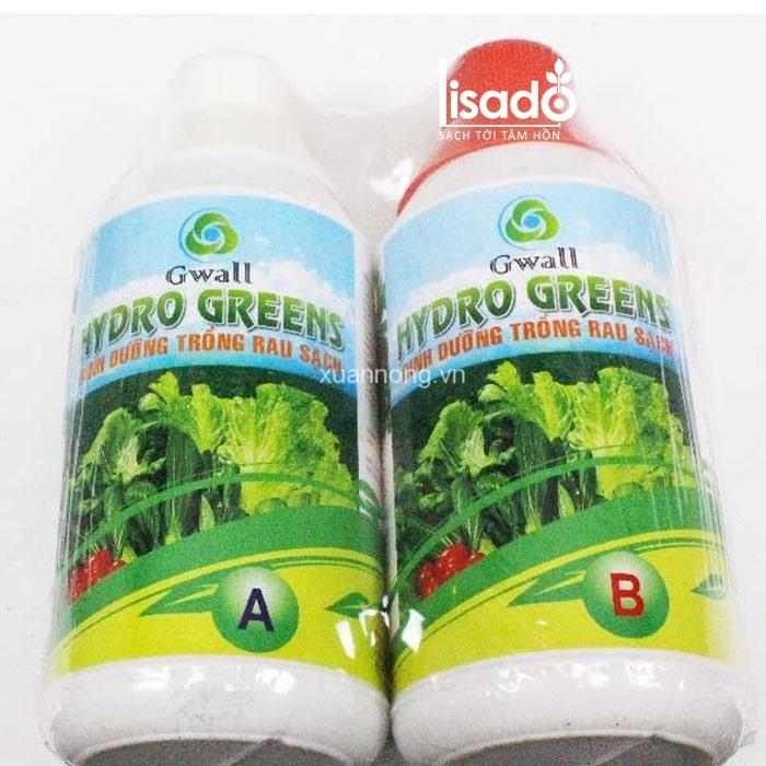 Dung dịch trồng rau muống thủy canh Hydro Greens