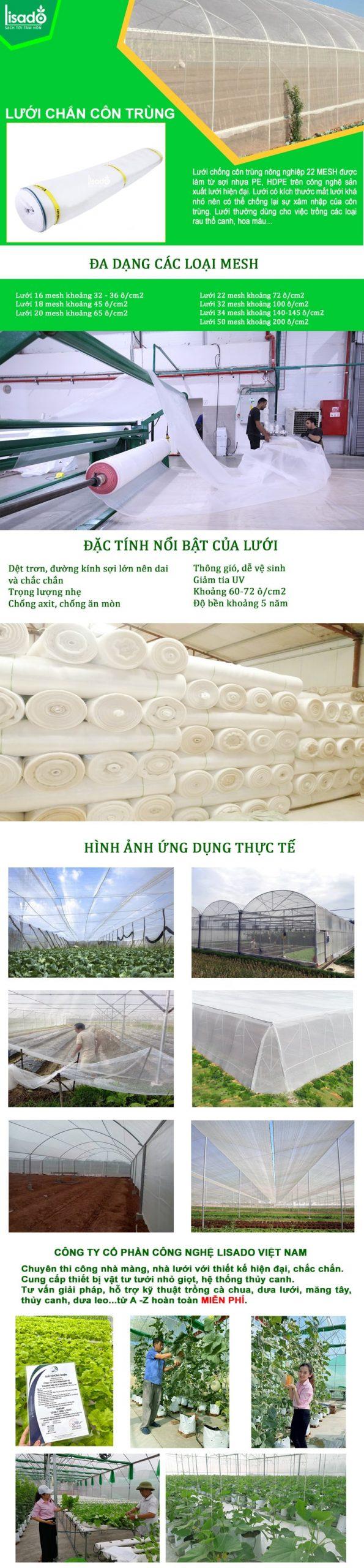 Lưới chống côn trùng độ bền cao, giá tốt