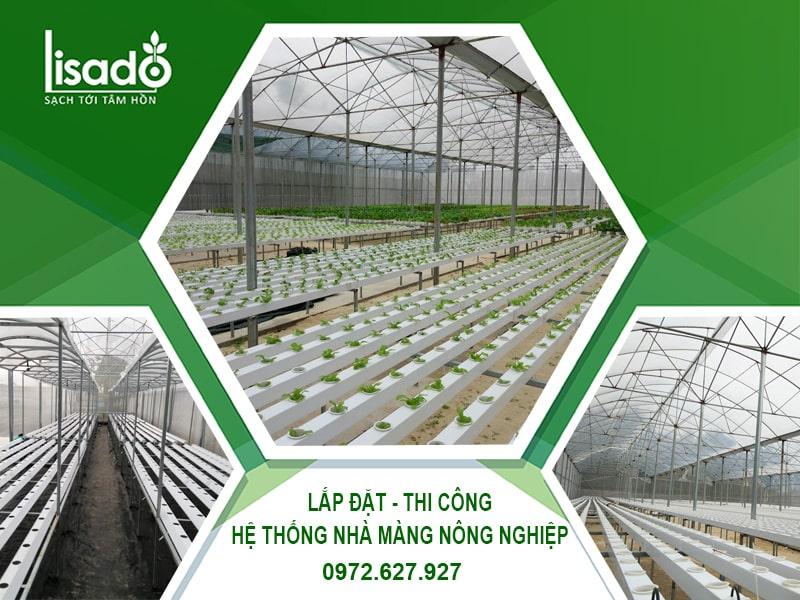 Thi công - thiết kế nhà màng nông nghiệp công nghệ cao