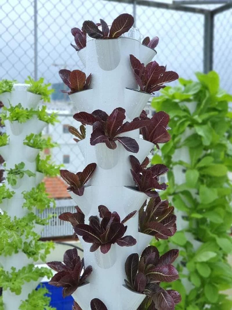 Trụ đứng trồng rau thủy canh