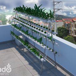 Giàn trồng rau thủy canh chữ A 1,2m lắp ghép