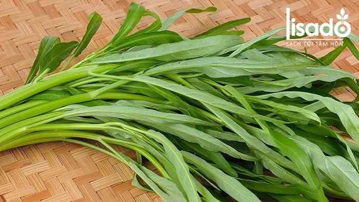 Nhận biết rau muống sạch dựa vào lá rau
