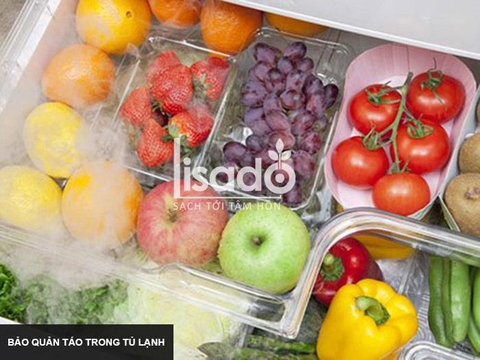 Bảo quản táo trong tủ lạnh