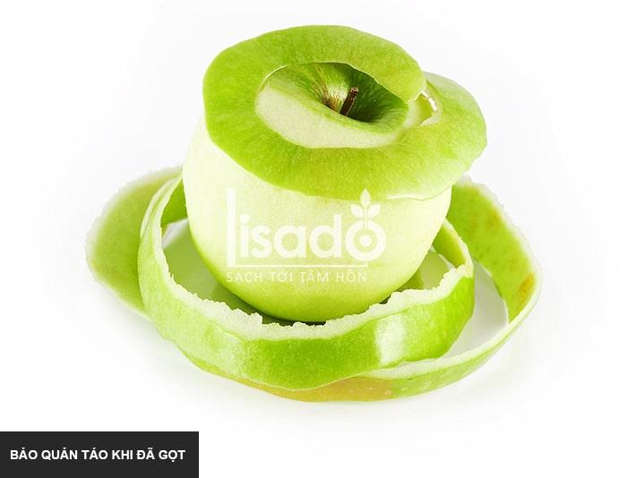 Bảo quản táo khi đã gọt