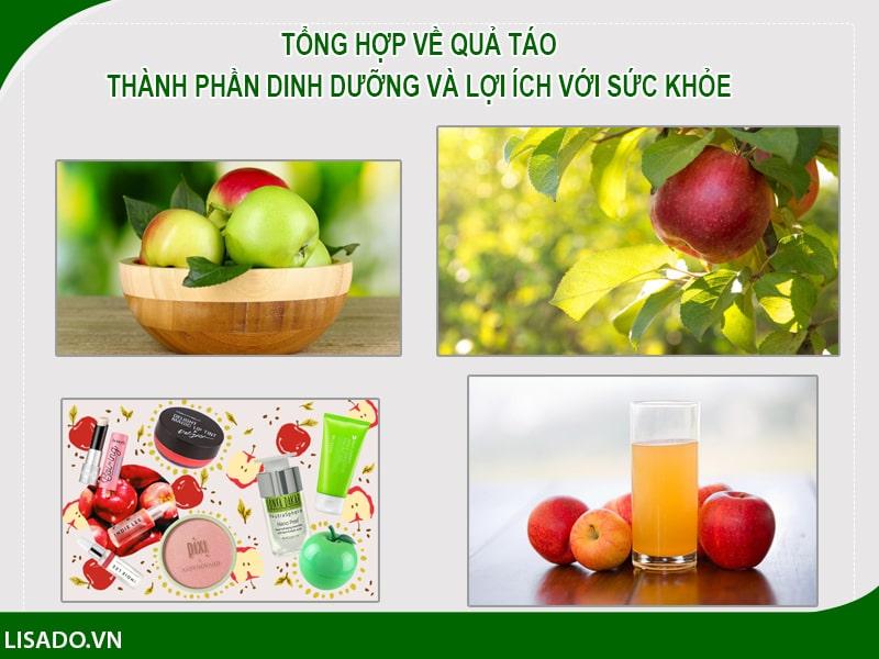 Tổng hợp về quả táo: Thành phần dinh dưỡng và lợi ích với sức khỏe