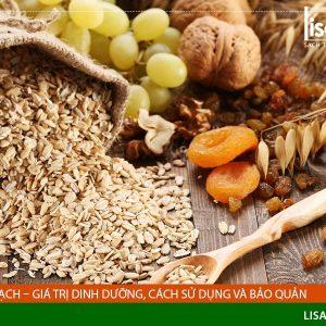 Yến mạch – Giá trị dinh dưỡng, cách sử dụng và bảo quản