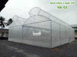 Nhà kính trồng rau 2 mái hở NK-03 cố định | LISADO VIỆT NAM