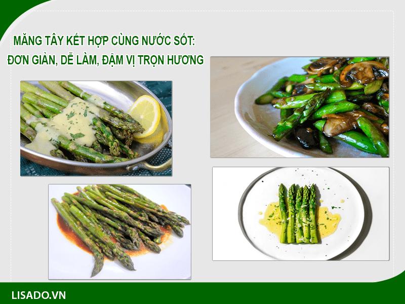 Măng tây kết hợp cùng nước sốt: Đơn giản, dễ làm, đậm vị trọn hương