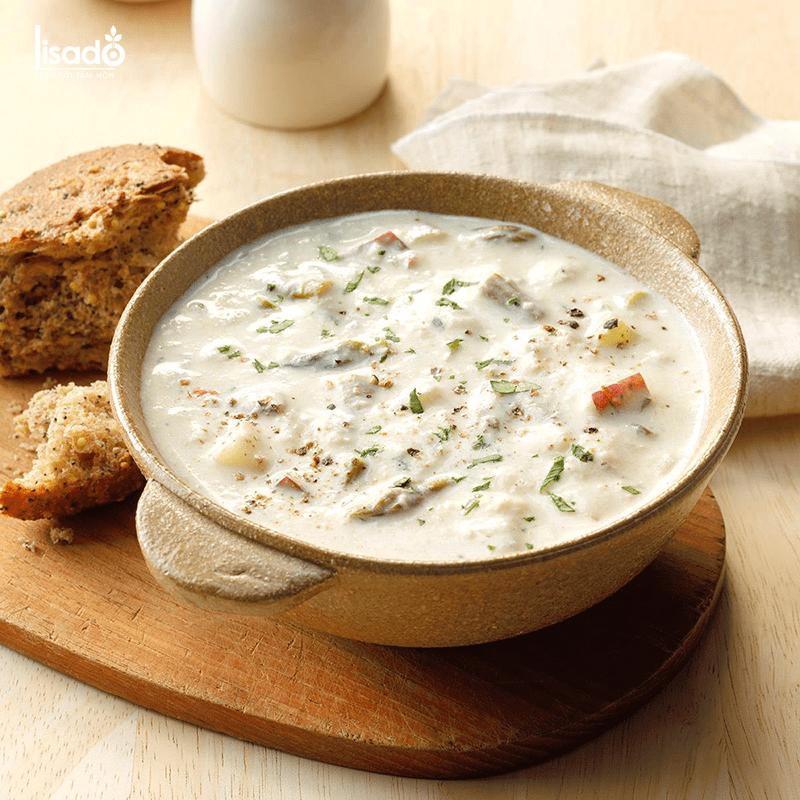 Món súp hải sản măng tây bổ dưỡng