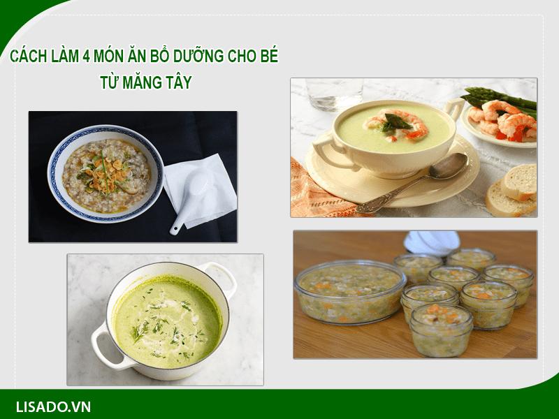 Cách làm 4 món ăn bổ dưỡng cho bé từ măng tây
