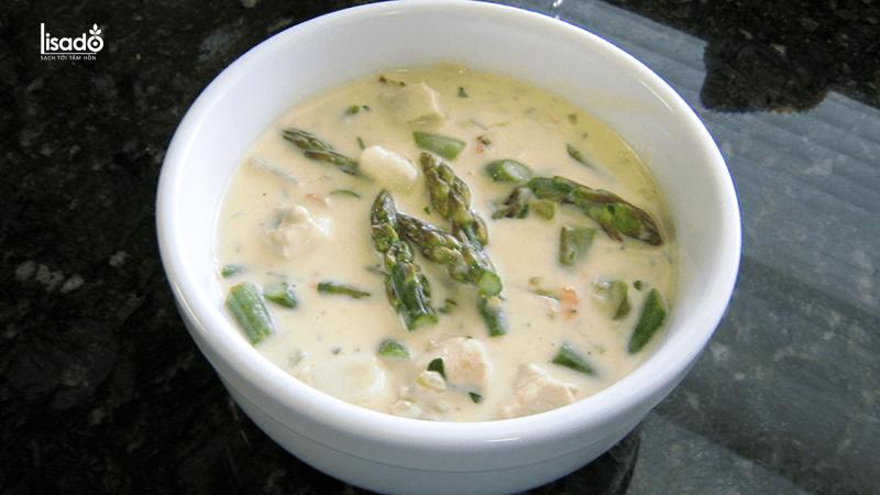 Cách nấu súp gà măng tây