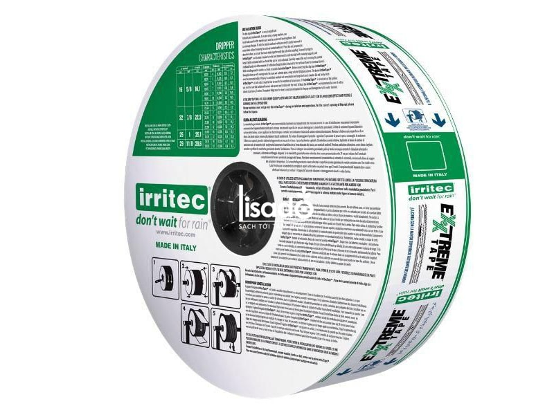 Dây nhỏ giọt EXXTREME - Irritec (Ý) đạt chuẩn chất lượng châu Âu