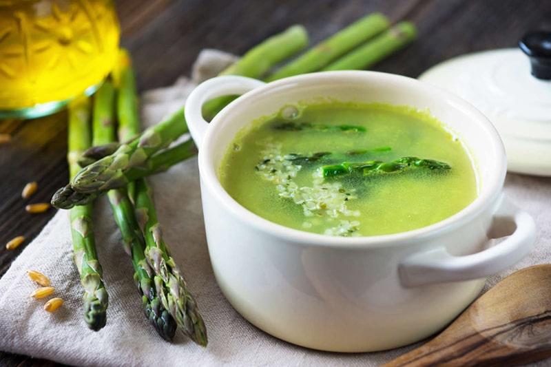 Súp măng tây, bắp non là một gợi ý tuyệt vời cho thực đơn bữa sáng của người đang giảm cân