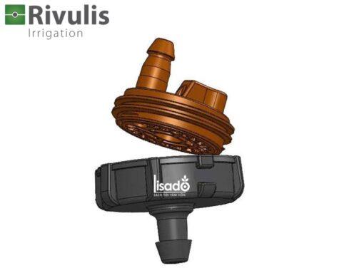 Đầu tưới nhỏ giọt E1000 lưu lượng 2l/h, 4l/h, 8l/h - Rivulis (Israel)