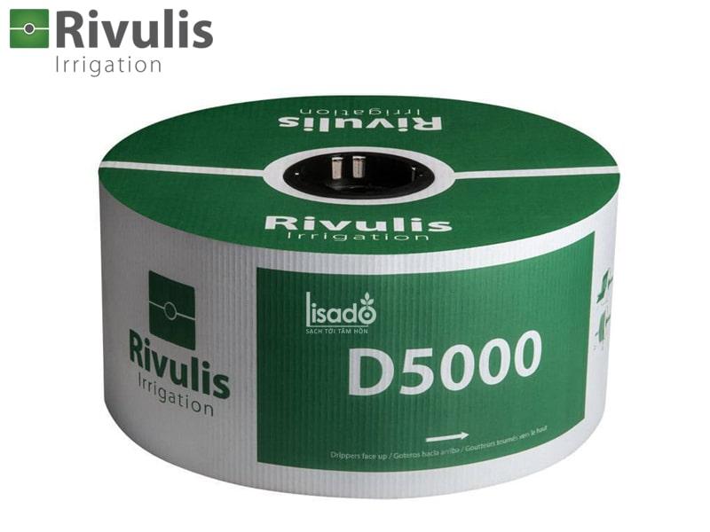 Ống tưới nhỏ giọt D5000 Ø16 dày 0.38mm, k/c 40cm, bù áp 2l/h – Rivulis (Israel)
