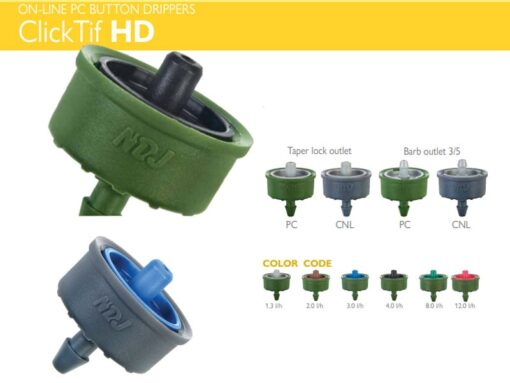 Đầu tưới nhỏ giọt Clicktiff bù áp 2 lít/h - NDJ (Israel)