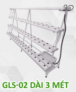 Giàn trồng rau thủy canh bán chữ A 3m 4 tầng, 8 ống