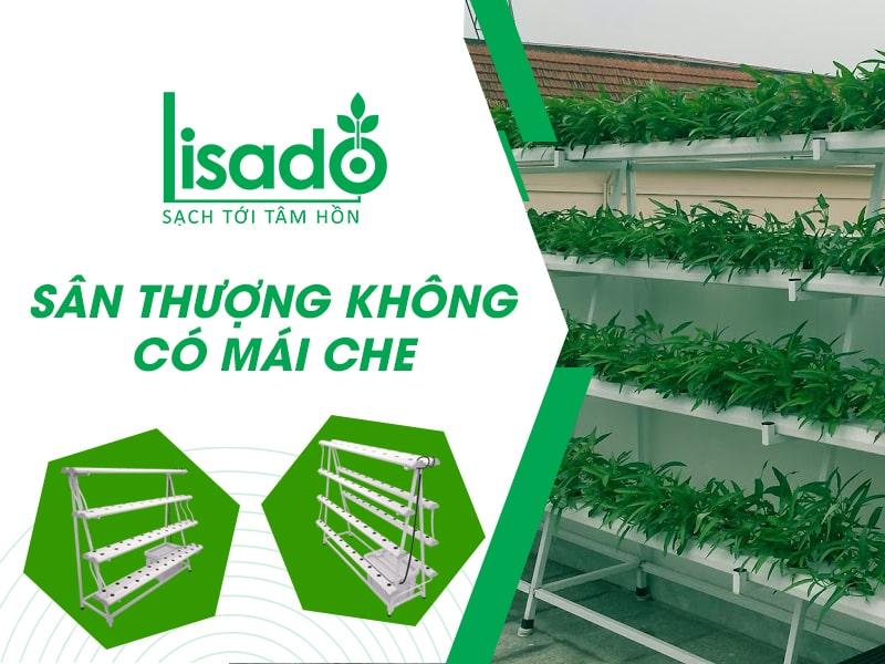 Với sân thượng không có mái che nên chọn loại giàn trồng nào?