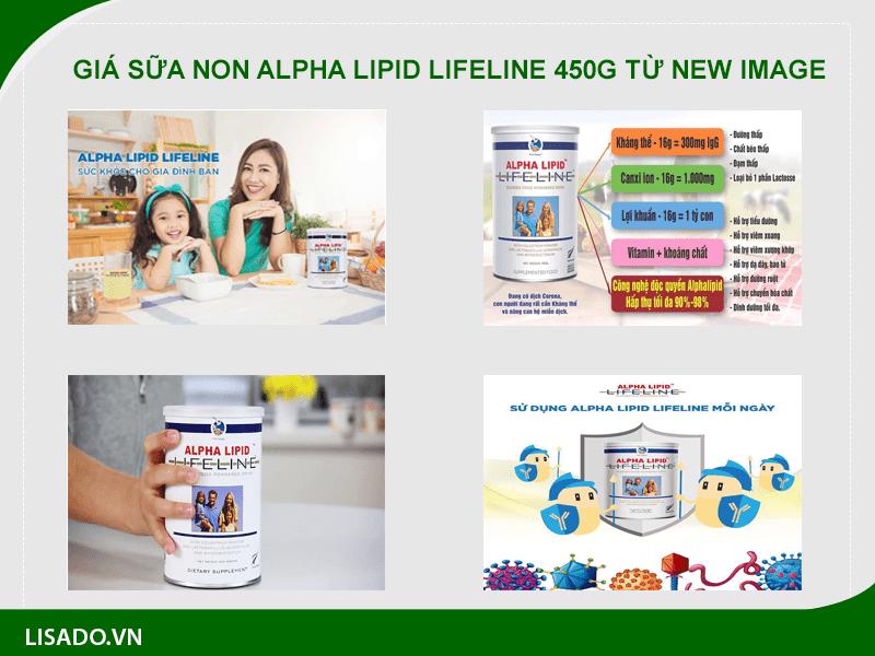 Giá sữa Alpha Lipid Lifeline 450g được cung cấp từ New Image